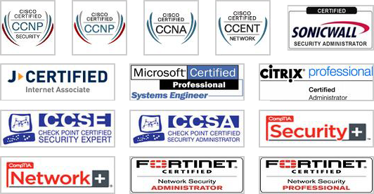 Certified in CISCO, Fortinet, Checkpoint, Sonicwall, Citrix, and ...